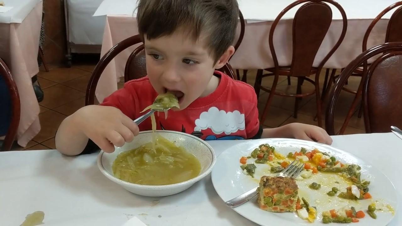 sopa de vegetales para niños